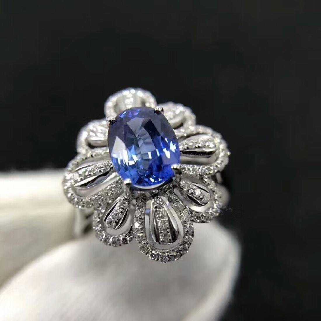 1.94ct Sapphire Ring in 18kt White Gold - 4