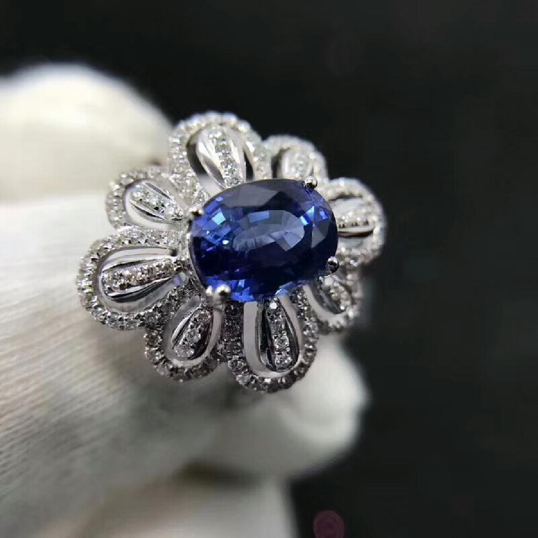 1.94ct Sapphire Ring in 18kt White Gold - 6