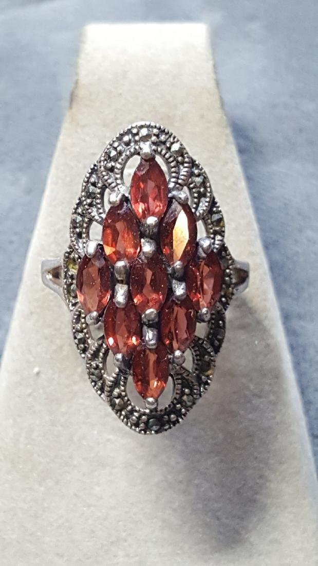 925 Carnelian Cluster Ring
