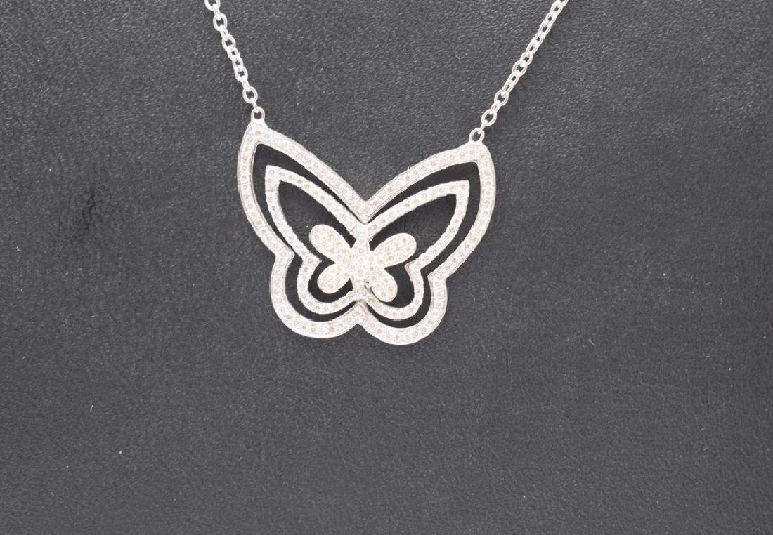 18 carat yellow gold necklace with diamond Butterfly - 10