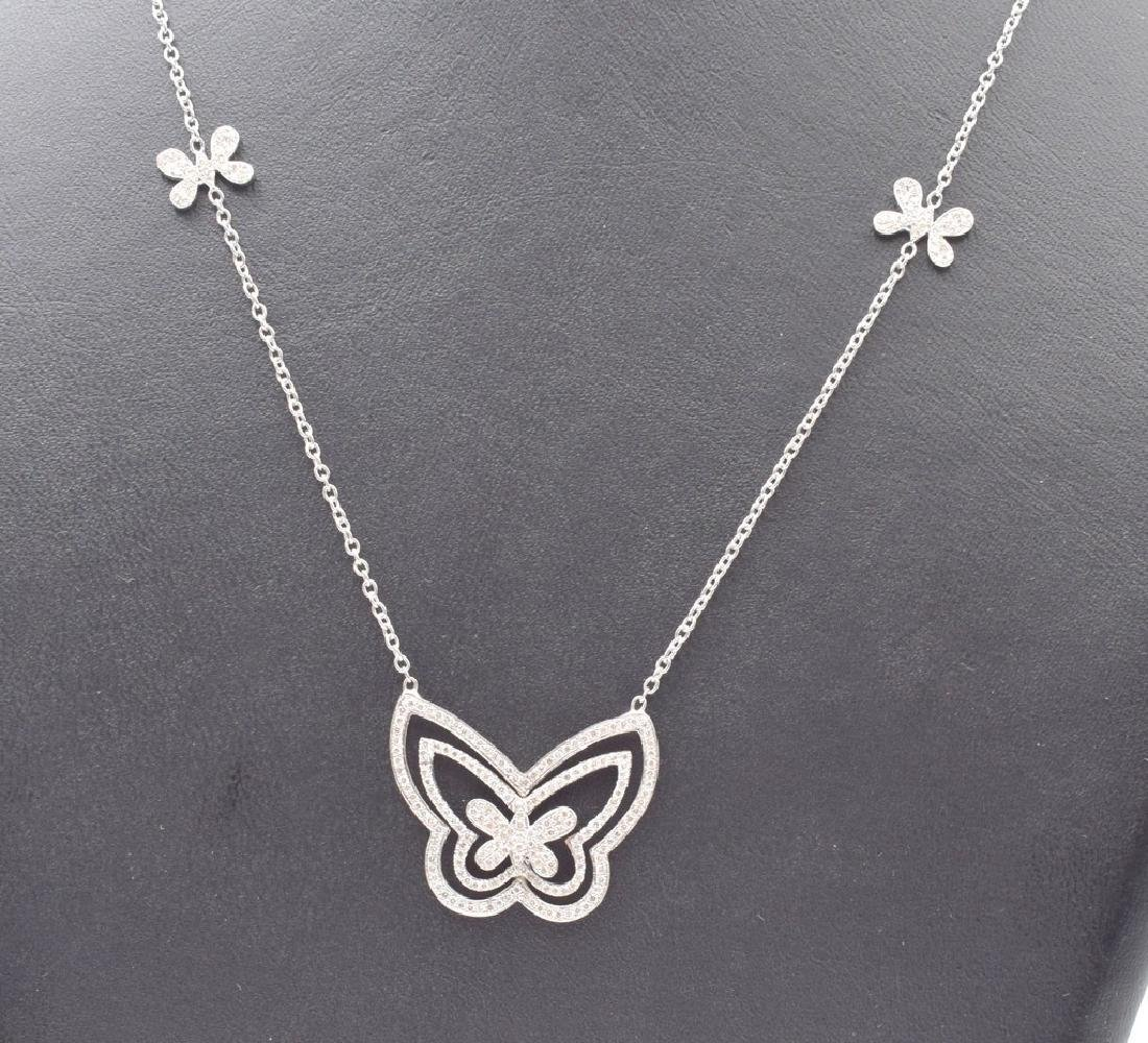 18 carat yellow gold necklace with diamond Butterfly