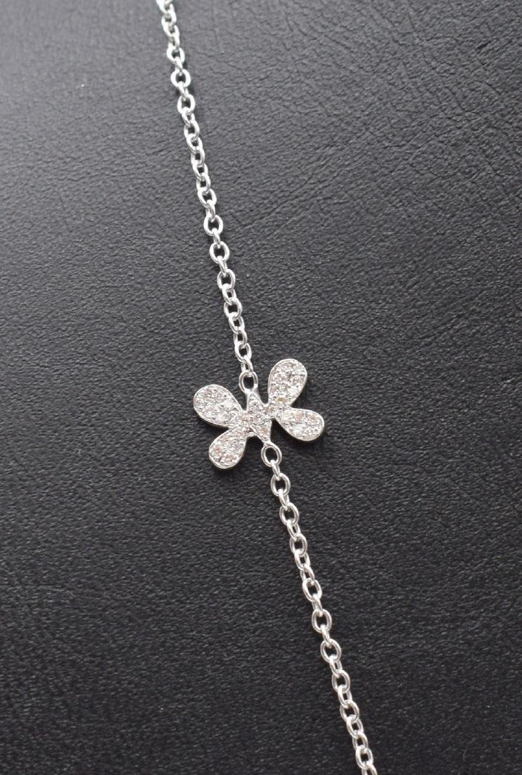 18 carat yellow gold necklace with diamond Butterfly - 2