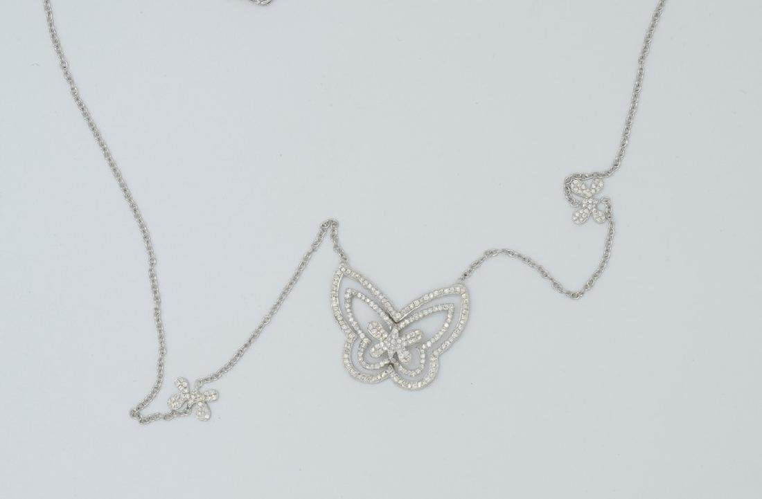 18 carat yellow gold necklace with diamond Butterfly - 5