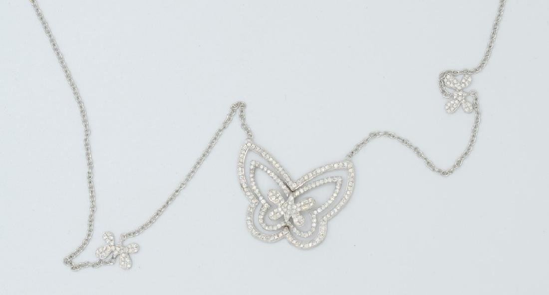 18 carat yellow gold necklace with diamond Butterfly - 6