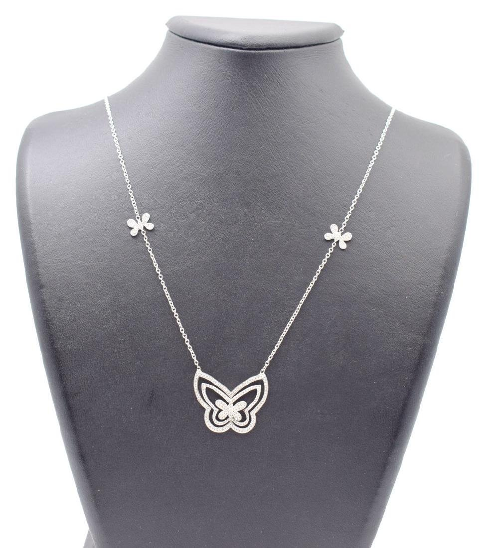 18 carat yellow gold necklace with diamond Butterfly - 7
