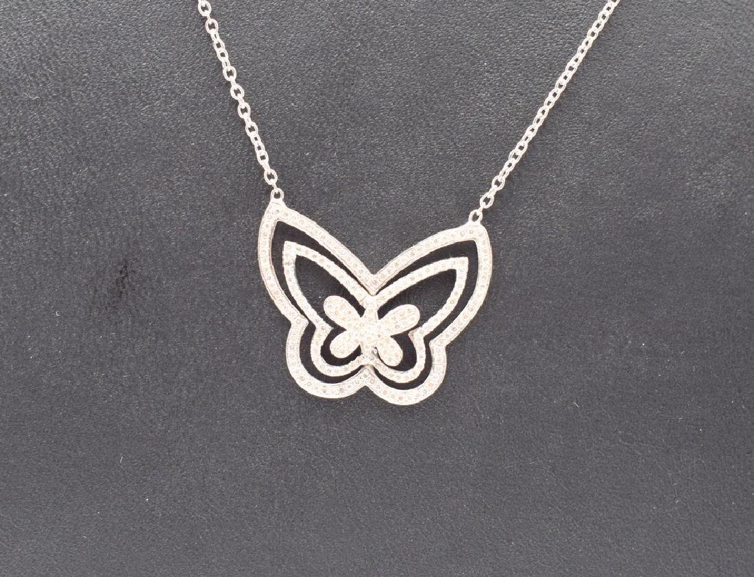 18 carat yellow gold necklace with diamond Butterfly - 9
