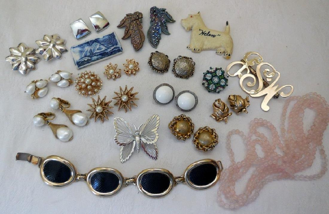 Lot of Antique and Mid-Century Costume Jewelry