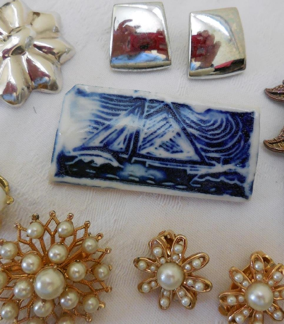 Lot of Antique and Mid-Century Costume Jewelry - 3
