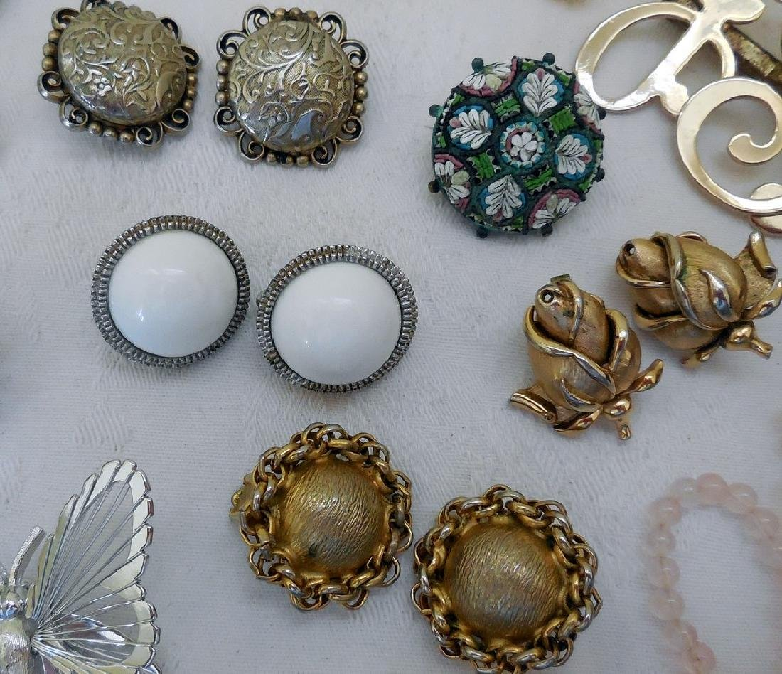 Lot of Antique and Mid-Century Costume Jewelry - 6