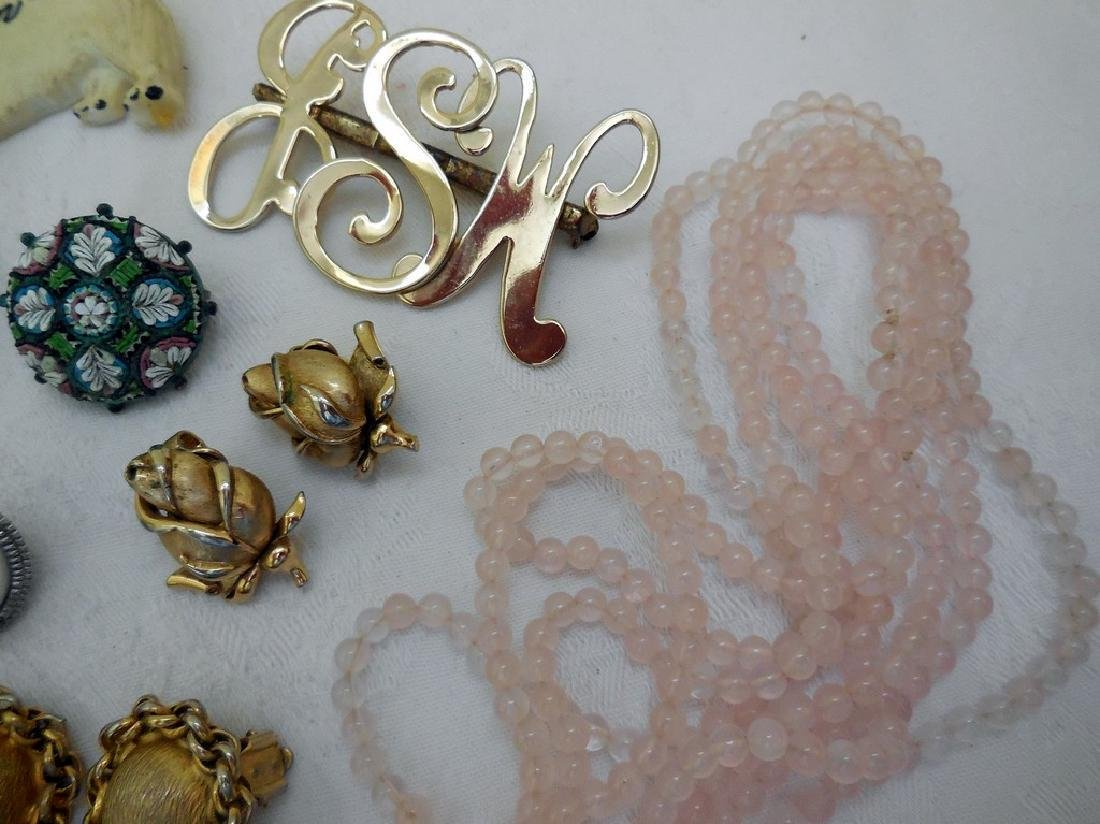 Lot of Antique and Mid-Century Costume Jewelry - 7