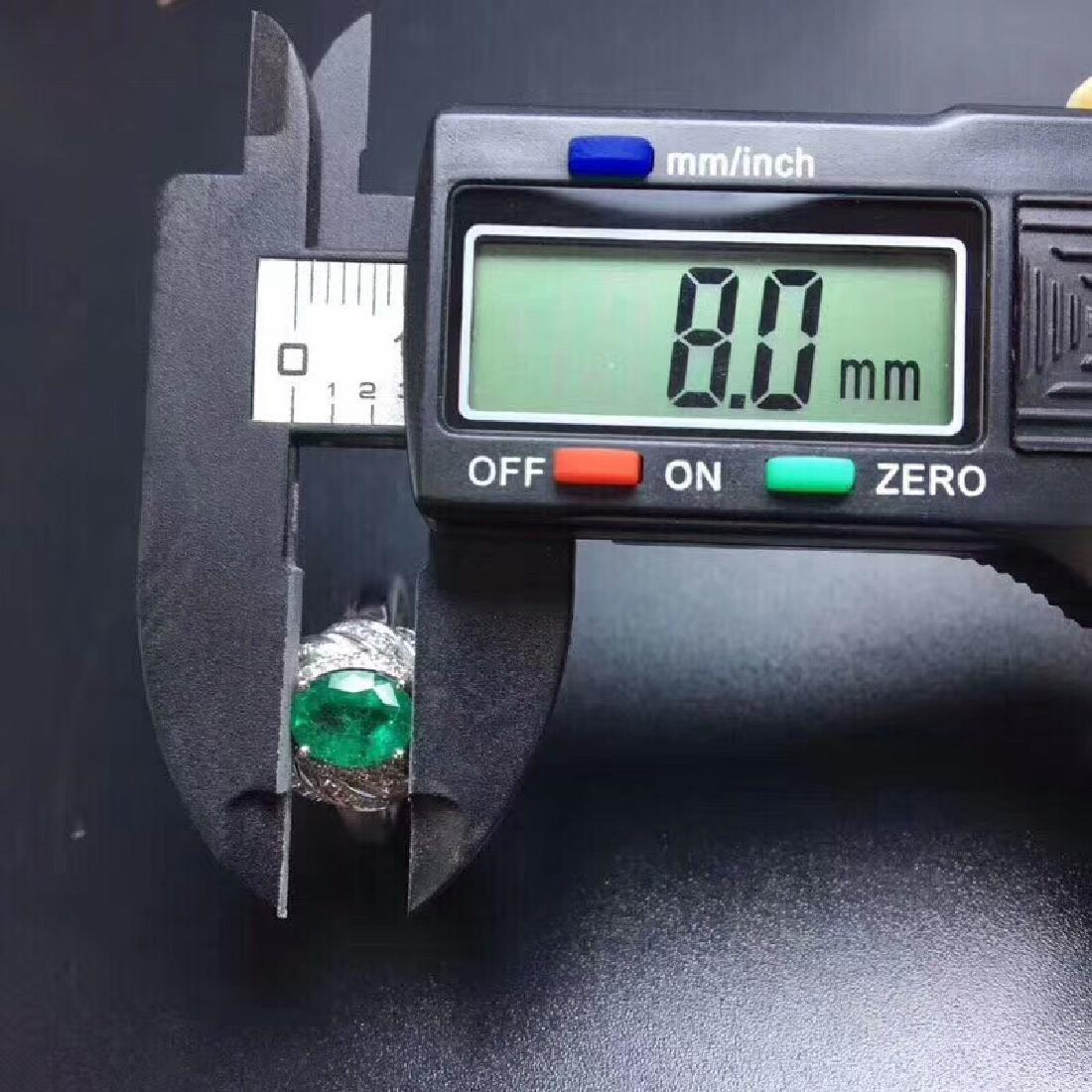 1.24 CTW Emerald & VS Diamond Ring 18K - 7