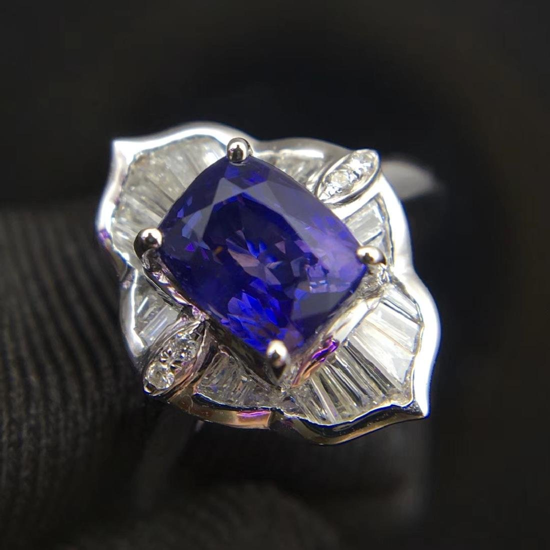 1.52ct Sapphire Ring in 18kt white Gold - 3