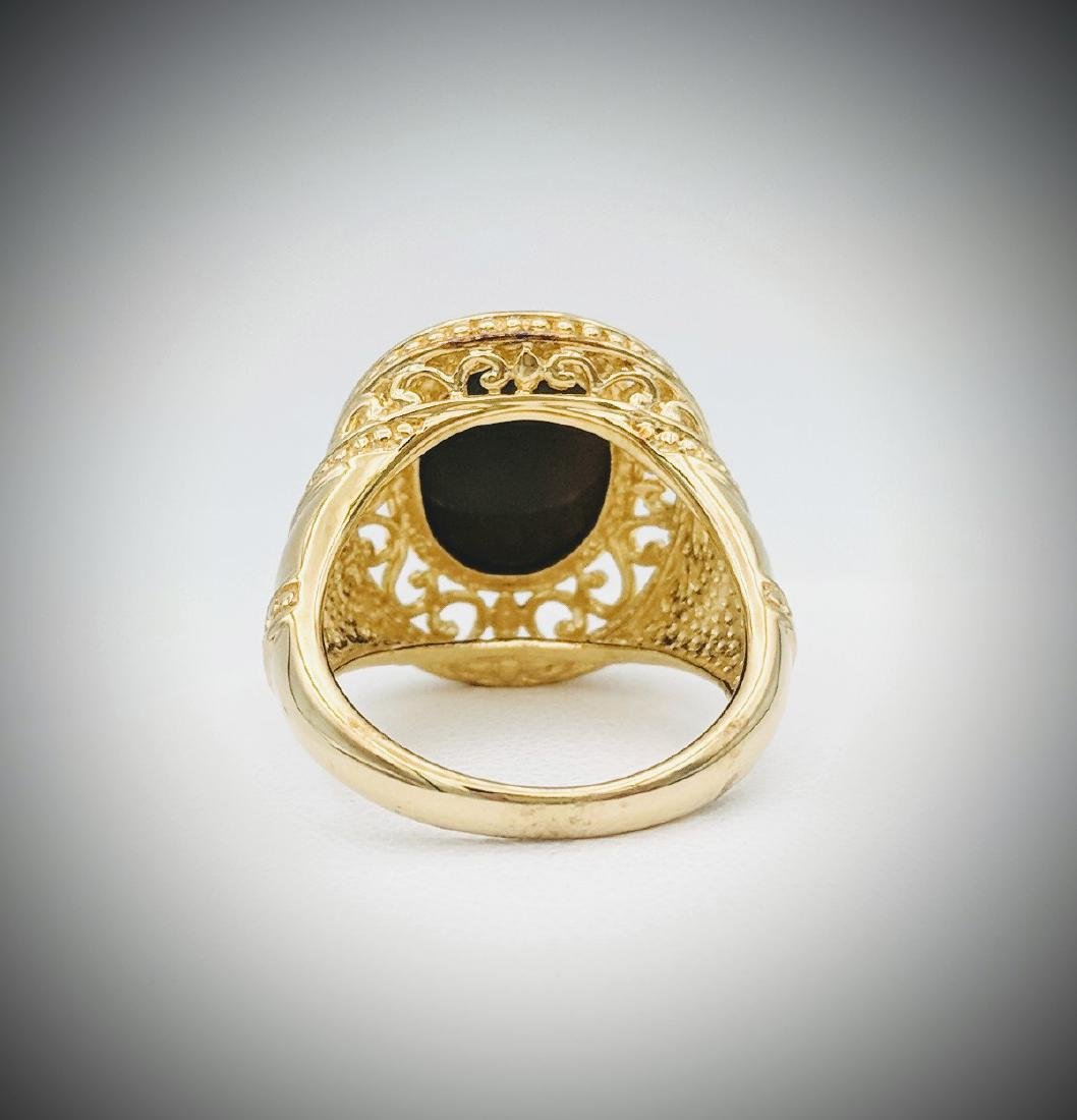 Gold Plated Tigers Eye Ring - 2