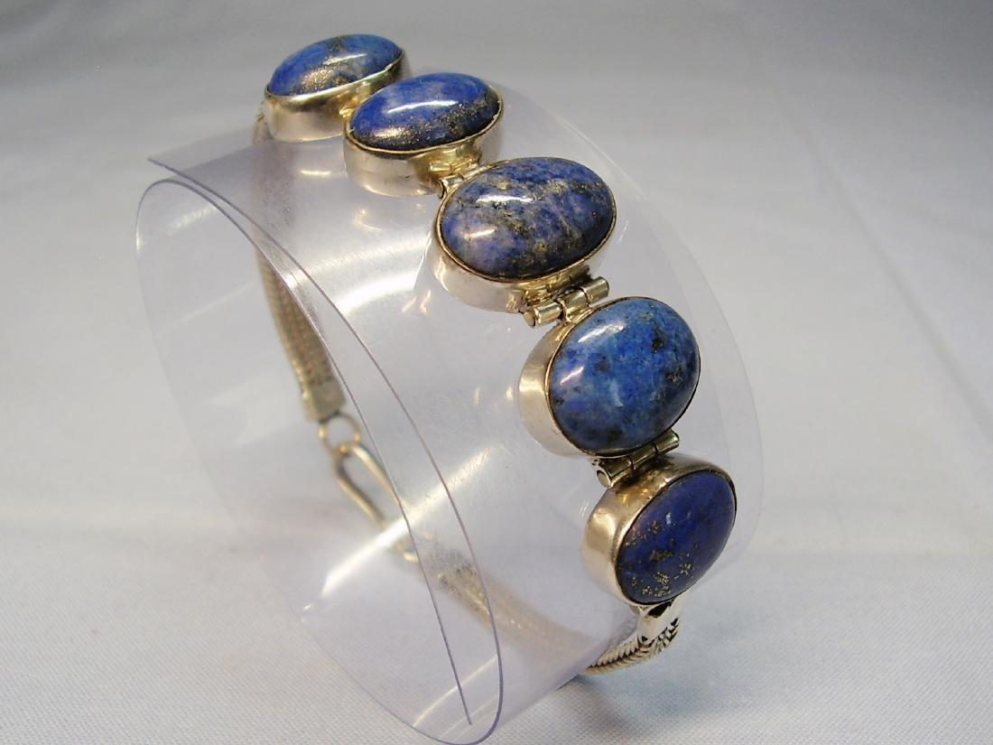 Lapislazuli Silver Bracelet - 5