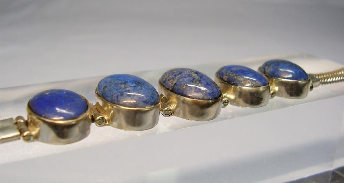 Lapislazuli Silver Bracelet - 8