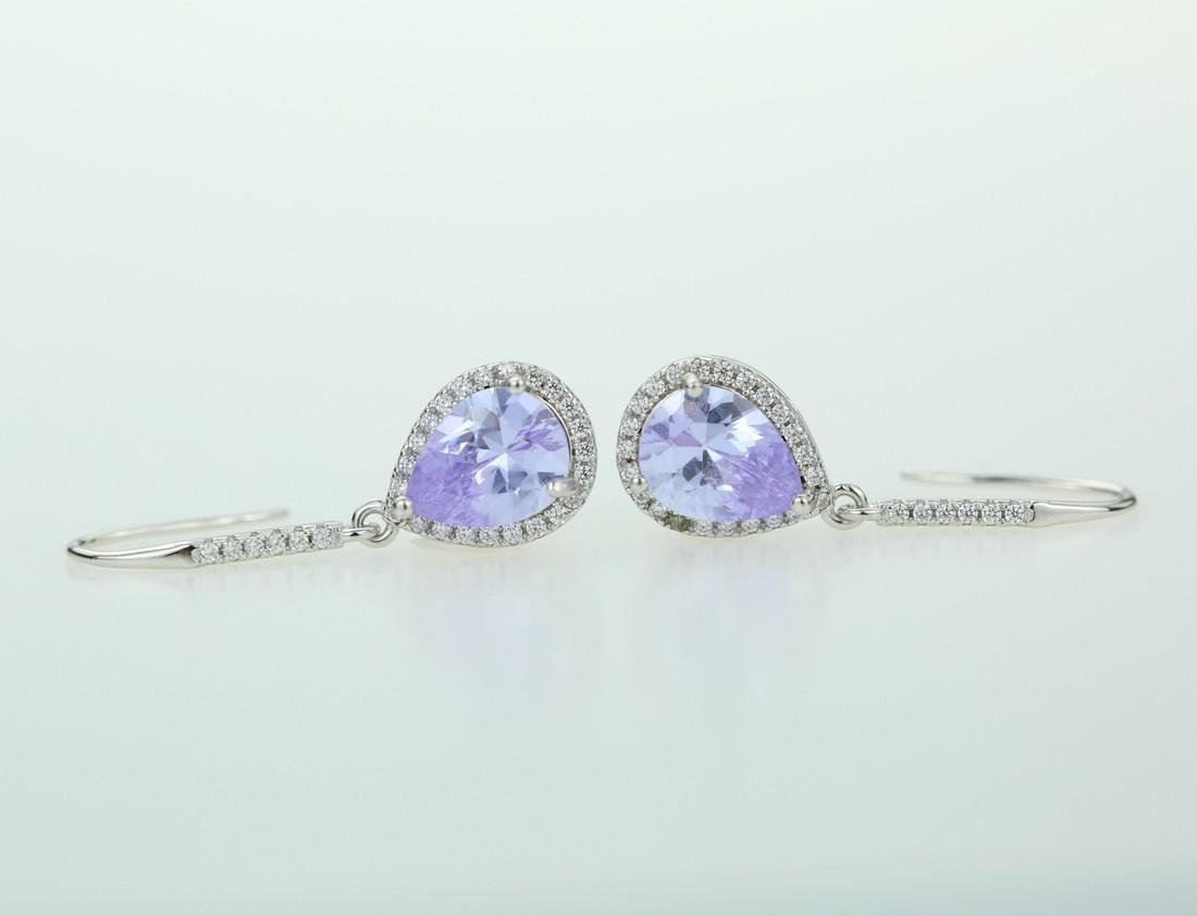 Exquisite 925 silver earing with zircon - 2