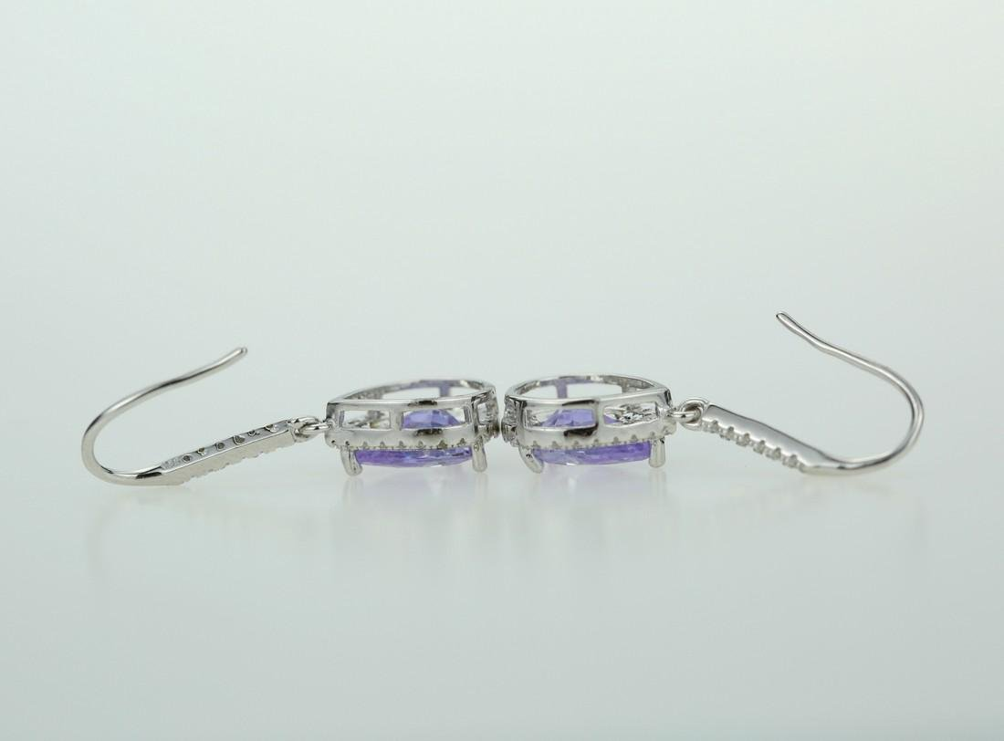Exquisite 925 silver earing with zircon - 4