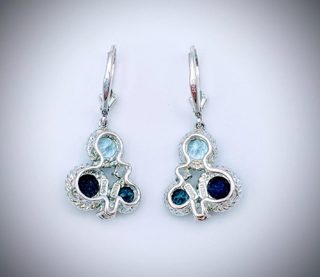Sterling Silver Lapis Lazuli, Blue Topaz, and Cubic - 2