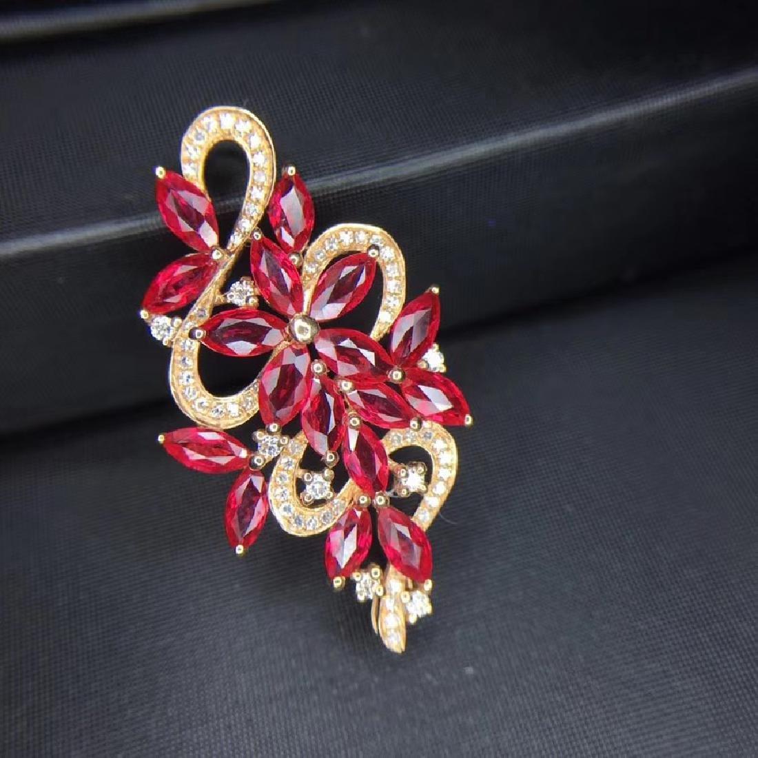 2.65 CTW Ruby & VS Diamond Ring 18K - 5