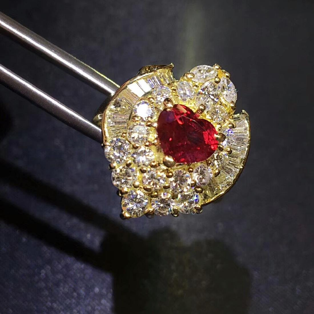 1.52ct Ruby Ring in 18kt Rose Gold - 2