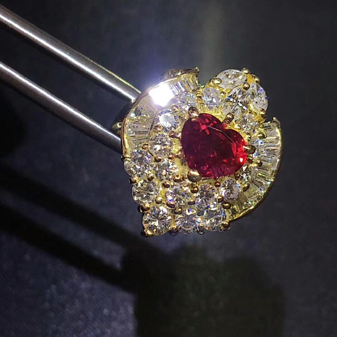1.52ct Ruby Ring in 18kt Rose Gold - 3