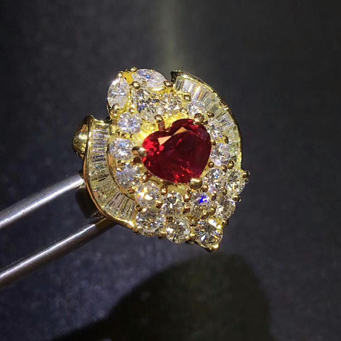 1.52ct Ruby Ring in 18kt Rose Gold - 4