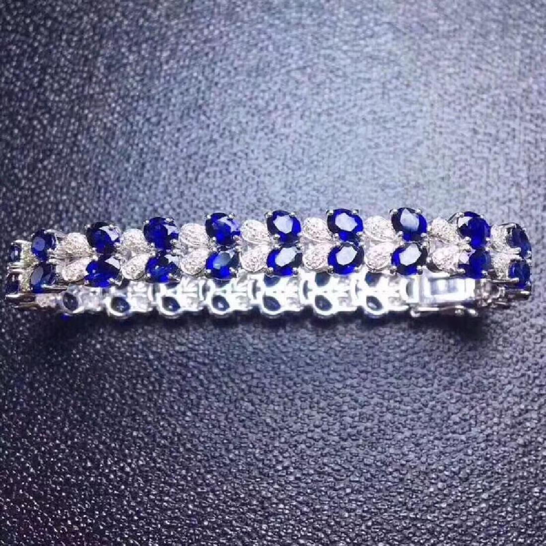 17.20 CTW Sapphire & VS Diamond Bracelets 18K