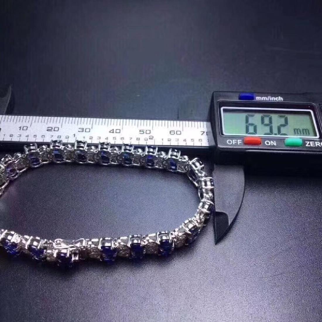 17.20 CTW Sapphire & VS Diamond Bracelets 18K - 3