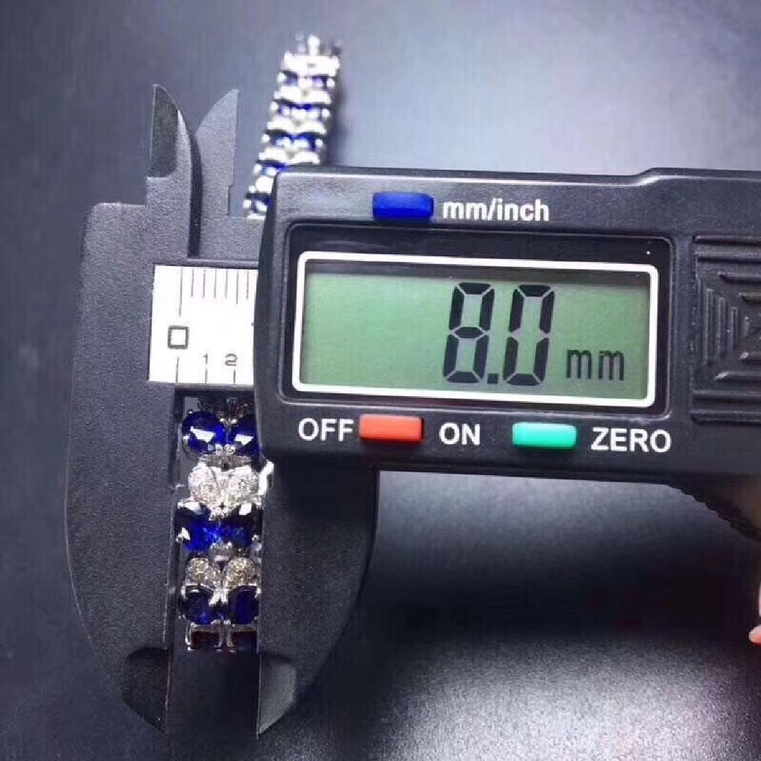 17.20 CTW Sapphire & VS Diamond Bracelets 18K - 4