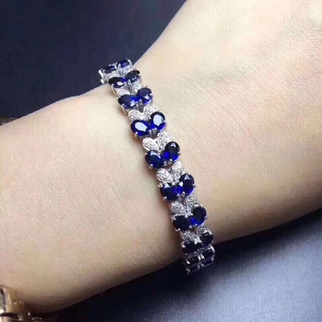 17.20 CTW Sapphire & VS Diamond Bracelets 18K - 5
