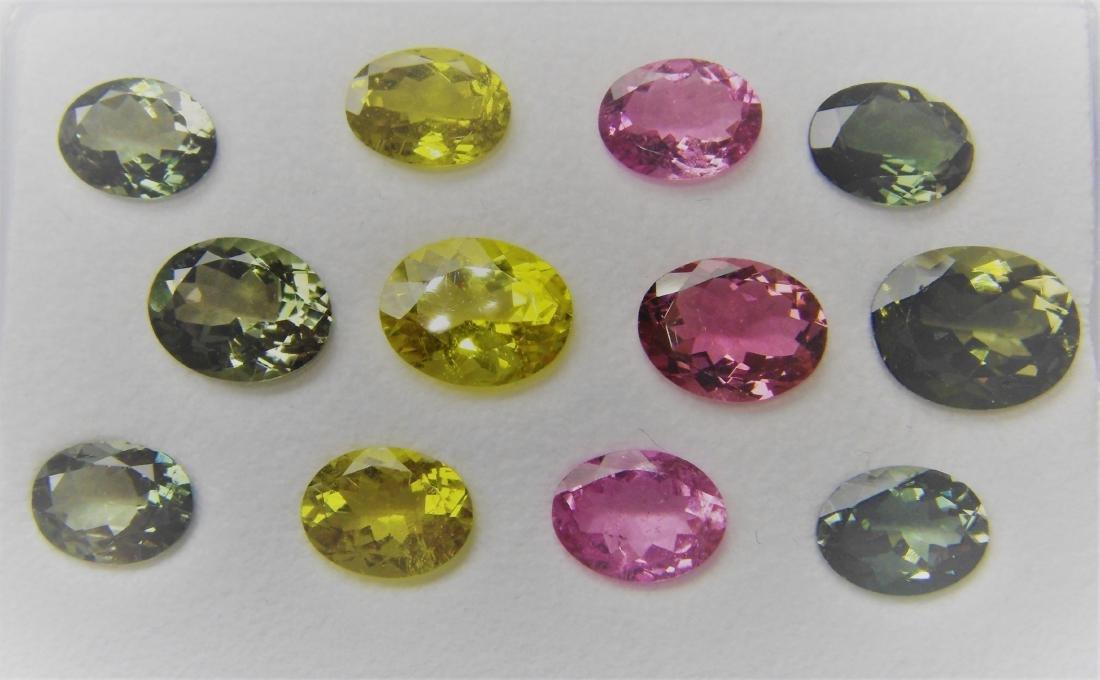 Multi color Tourmalines 12pcs-16.40 ct