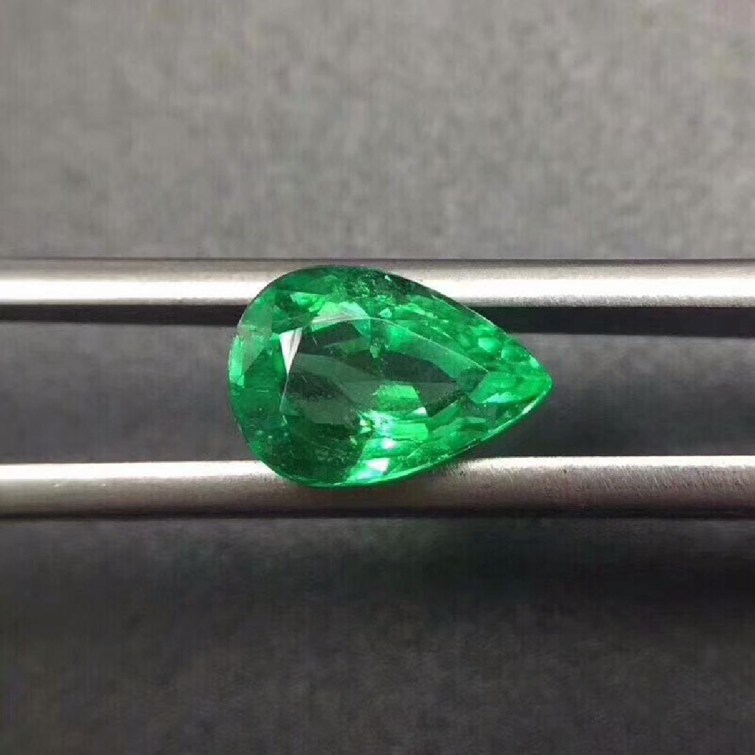 2.09 ct Emerald 6.9*5.0*10.2 mm Pear Cut - 4