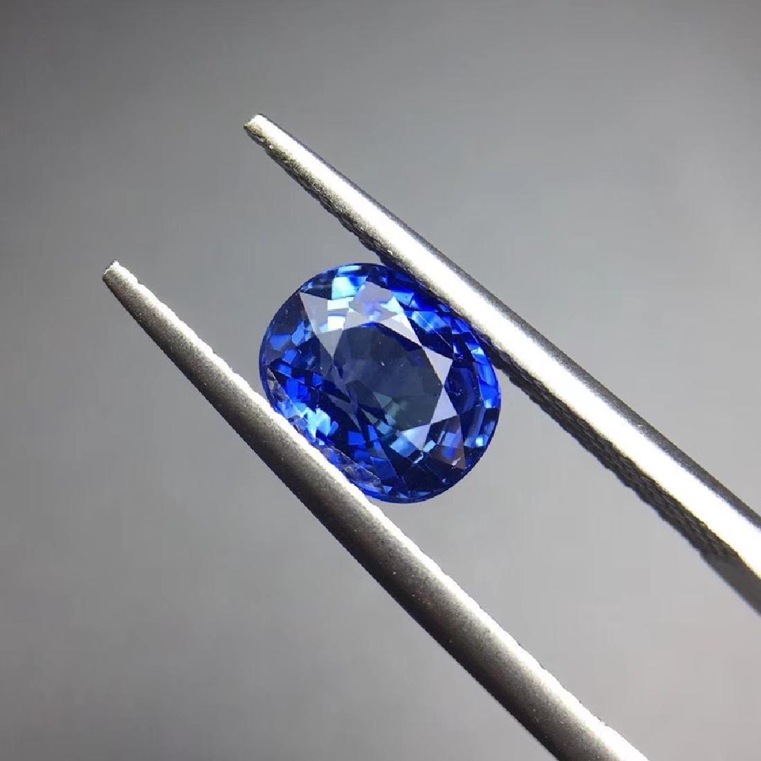 1.85 ct Sapphire 7.4*6.0*4.4 mm Oval Cut - 2