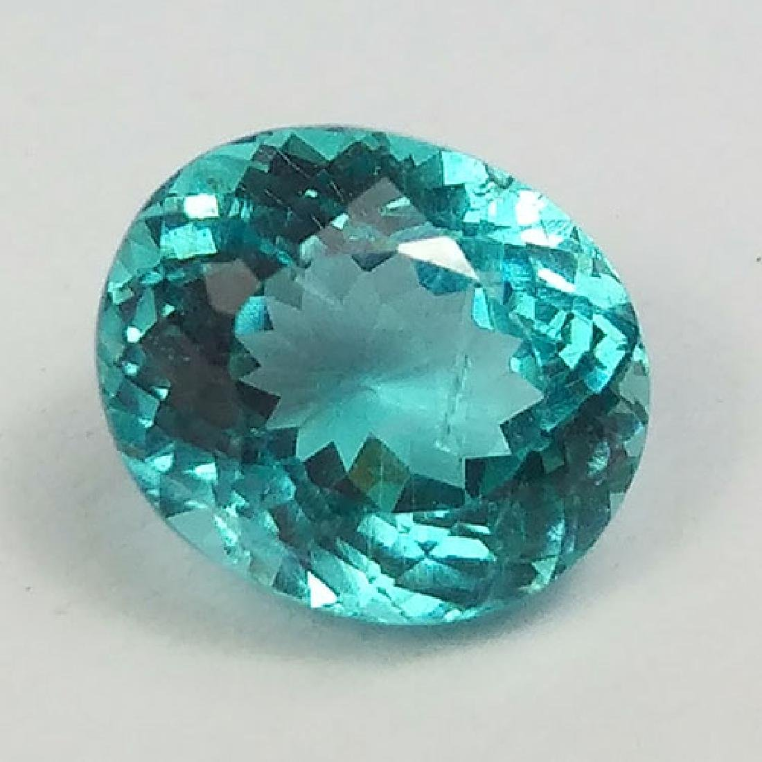 1.62CT-SPARKLING OVAL NATURAL PARAIBA COLOR NEON GREEN