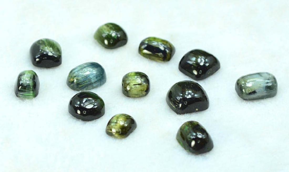 50.10 carats Untreated Cats Eye Tourmaline Cabochons - 5