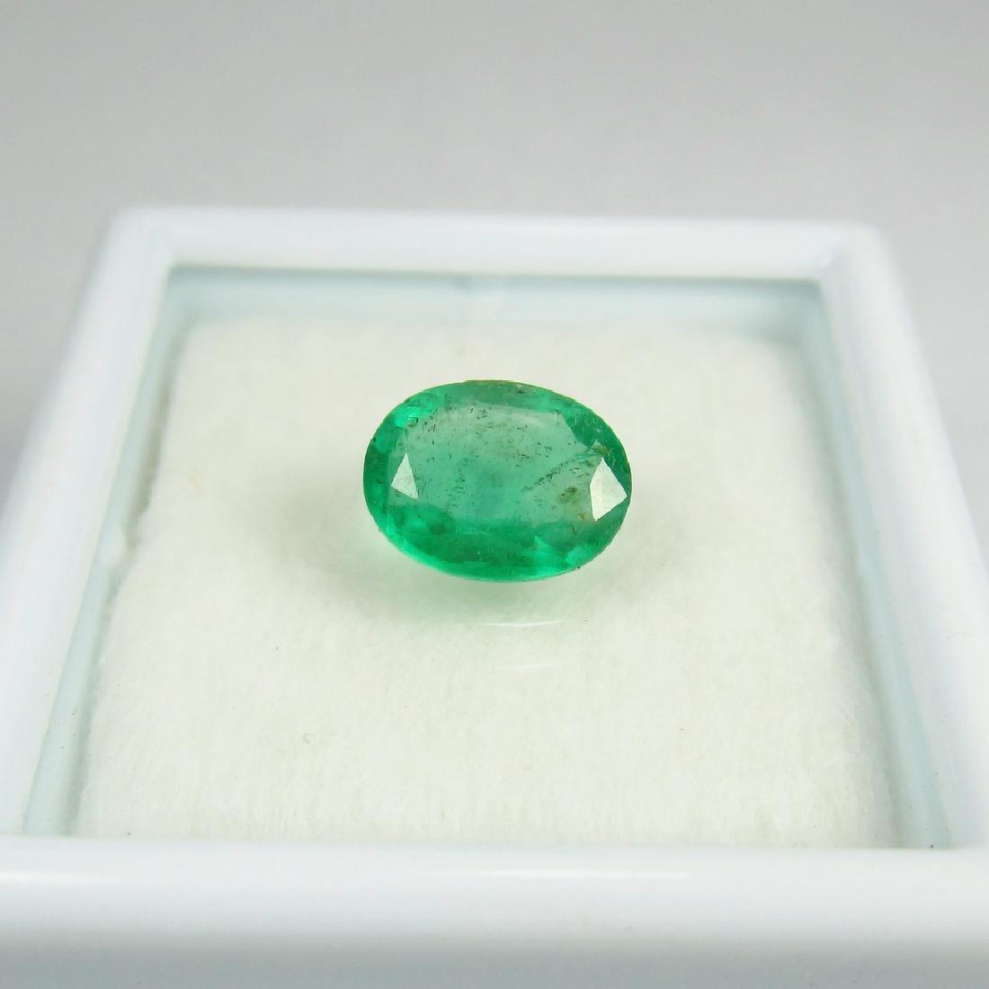 IGI Certified 1.11 Ct Genuine Zambian Emerald Good - 3
