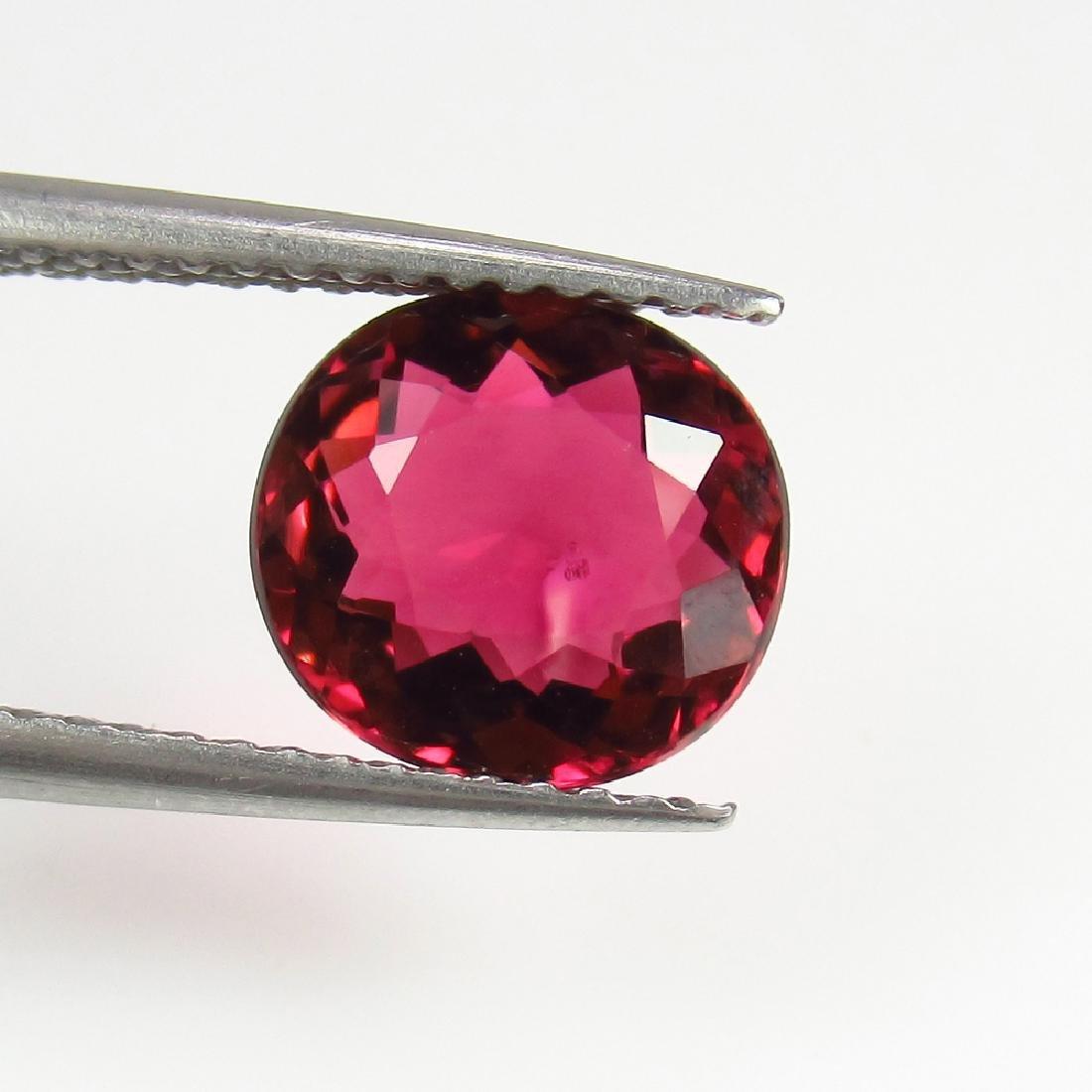 1.92 Ctw Natural Loose Deep Reddish Pink Rubellite