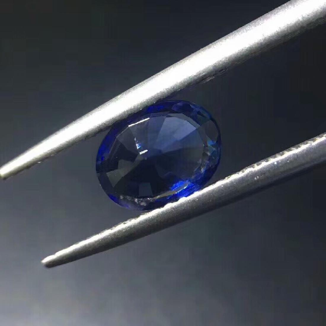 1.3 ct Sapphire 7.2*5.9*3.7 mm Oval Cut - 5