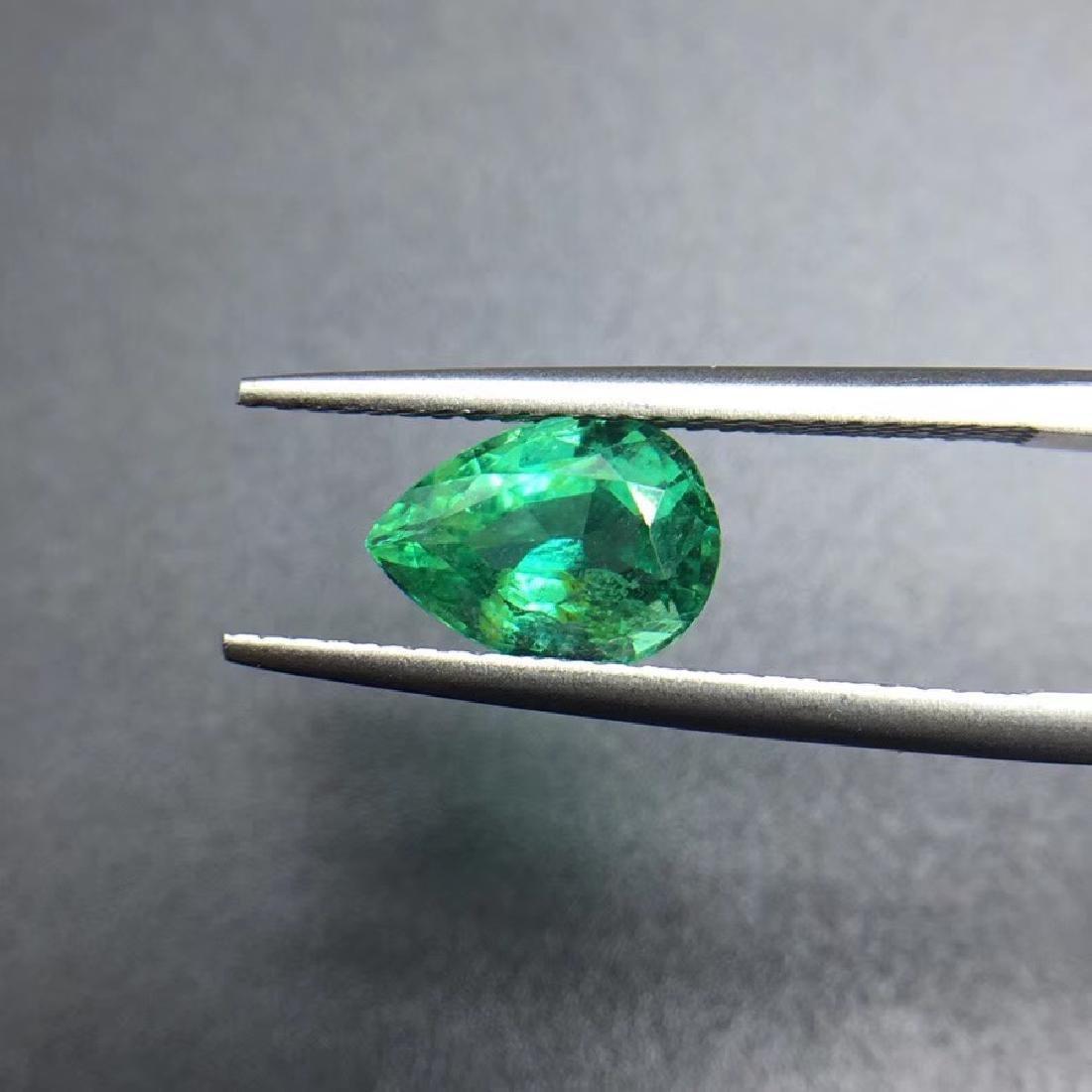 1.43 ct Emerald 6.2*8.9*4.7 mm Pear Cut