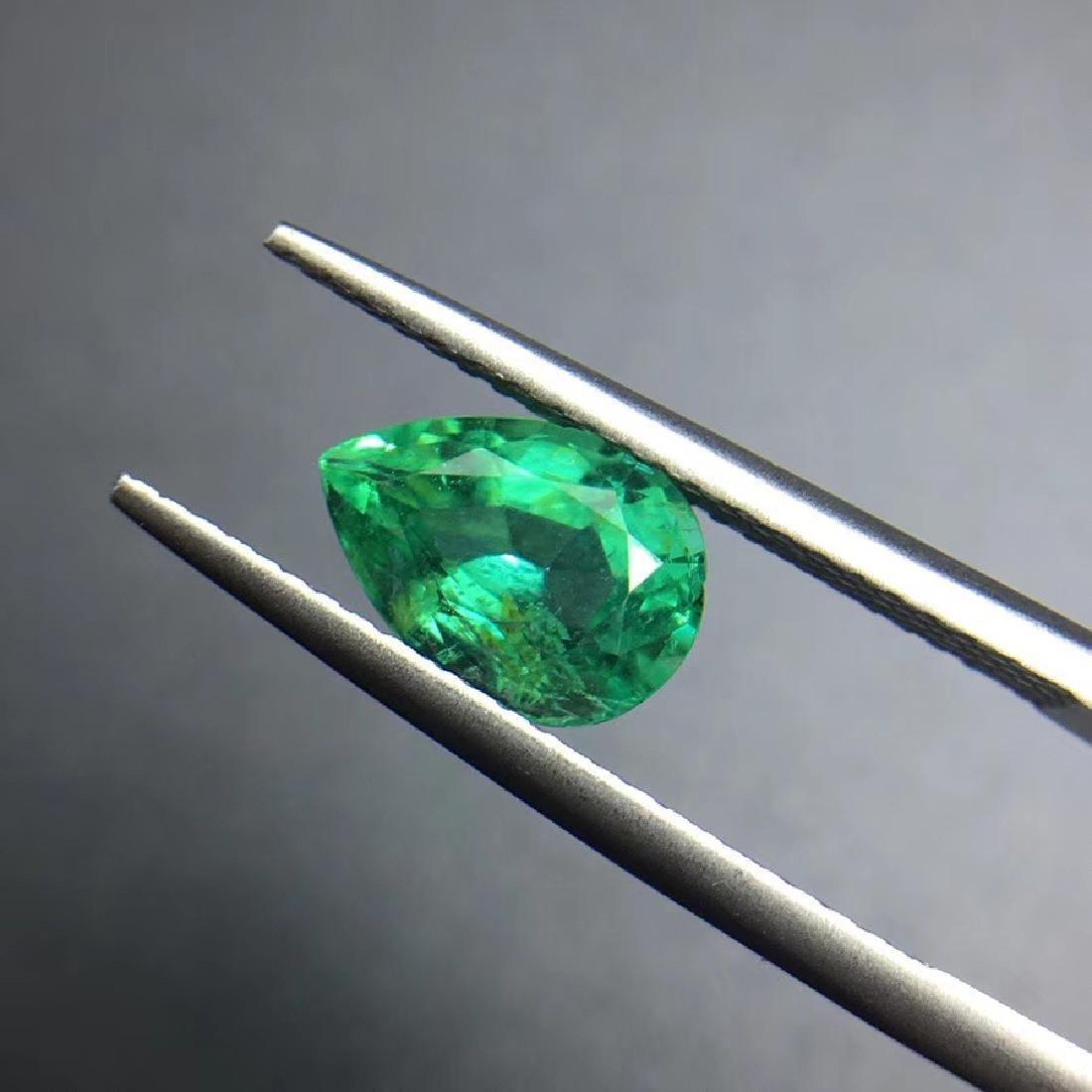 1.43 ct Emerald 6.2*8.9*4.7 mm Pear Cut - 2