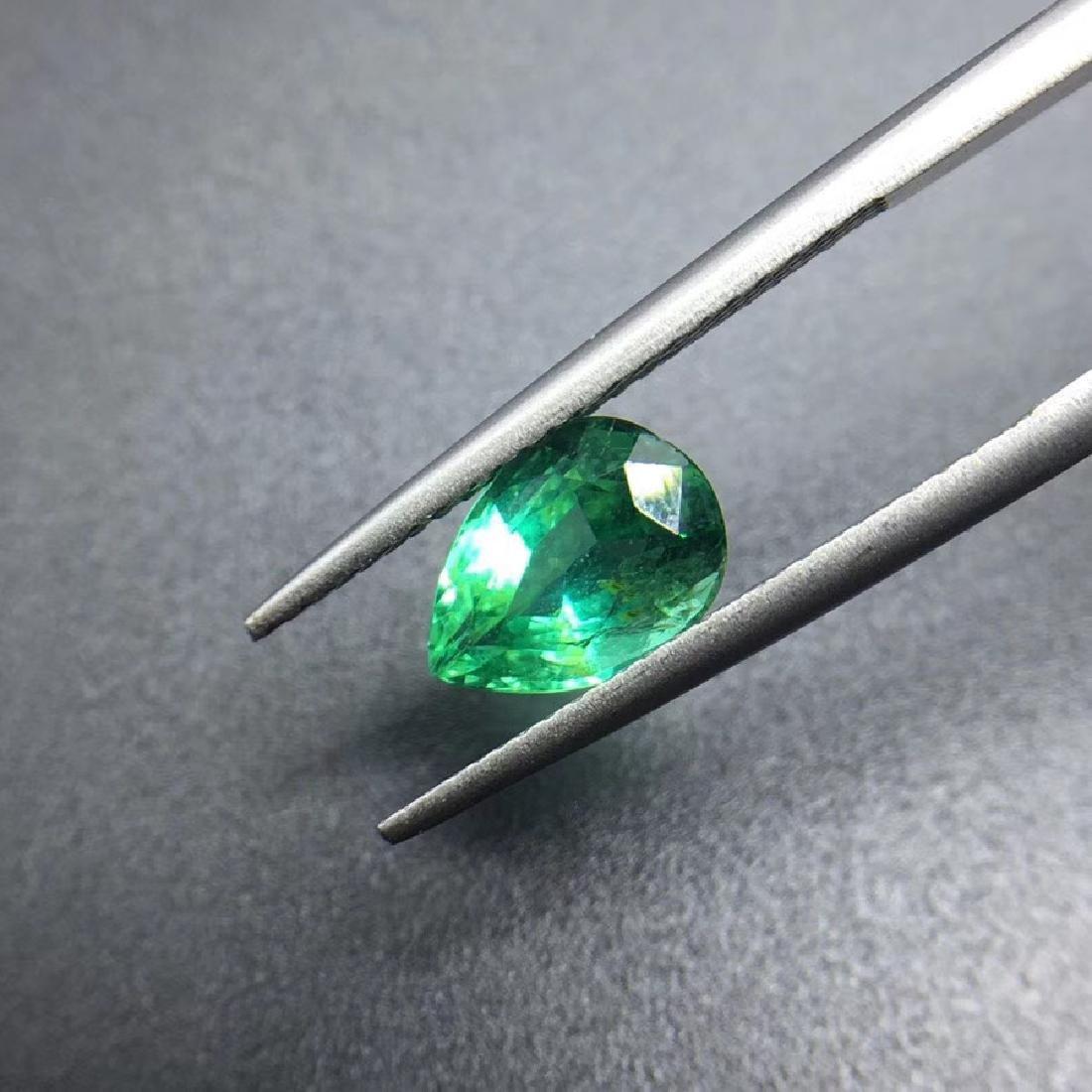 1.43 ct Emerald 6.2*8.9*4.7 mm Pear Cut - 3
