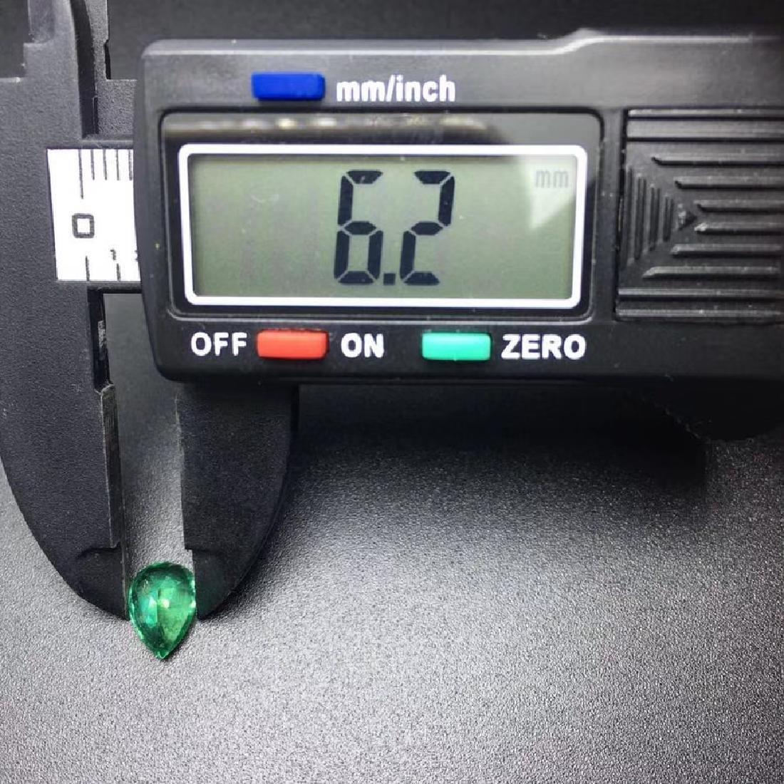 1.43 ct Emerald 6.2*8.9*4.7 mm Pear Cut - 5