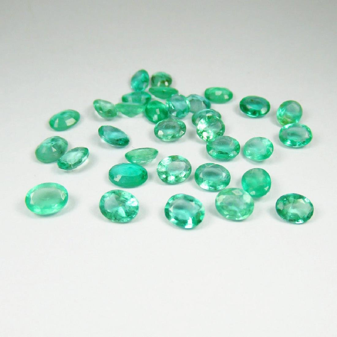 9.45 Ctw Natural Zambian 32 Loose Oval cut Emeralds