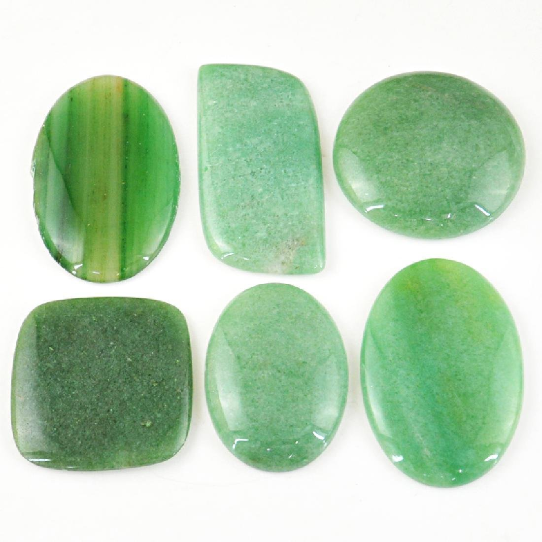 Green Aventurine Gem Lot - 2