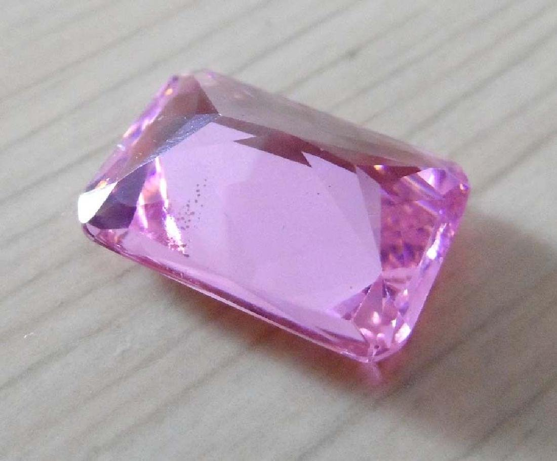 Unheated 9.57ct Pink Sapphire Emerald Faceted Cut