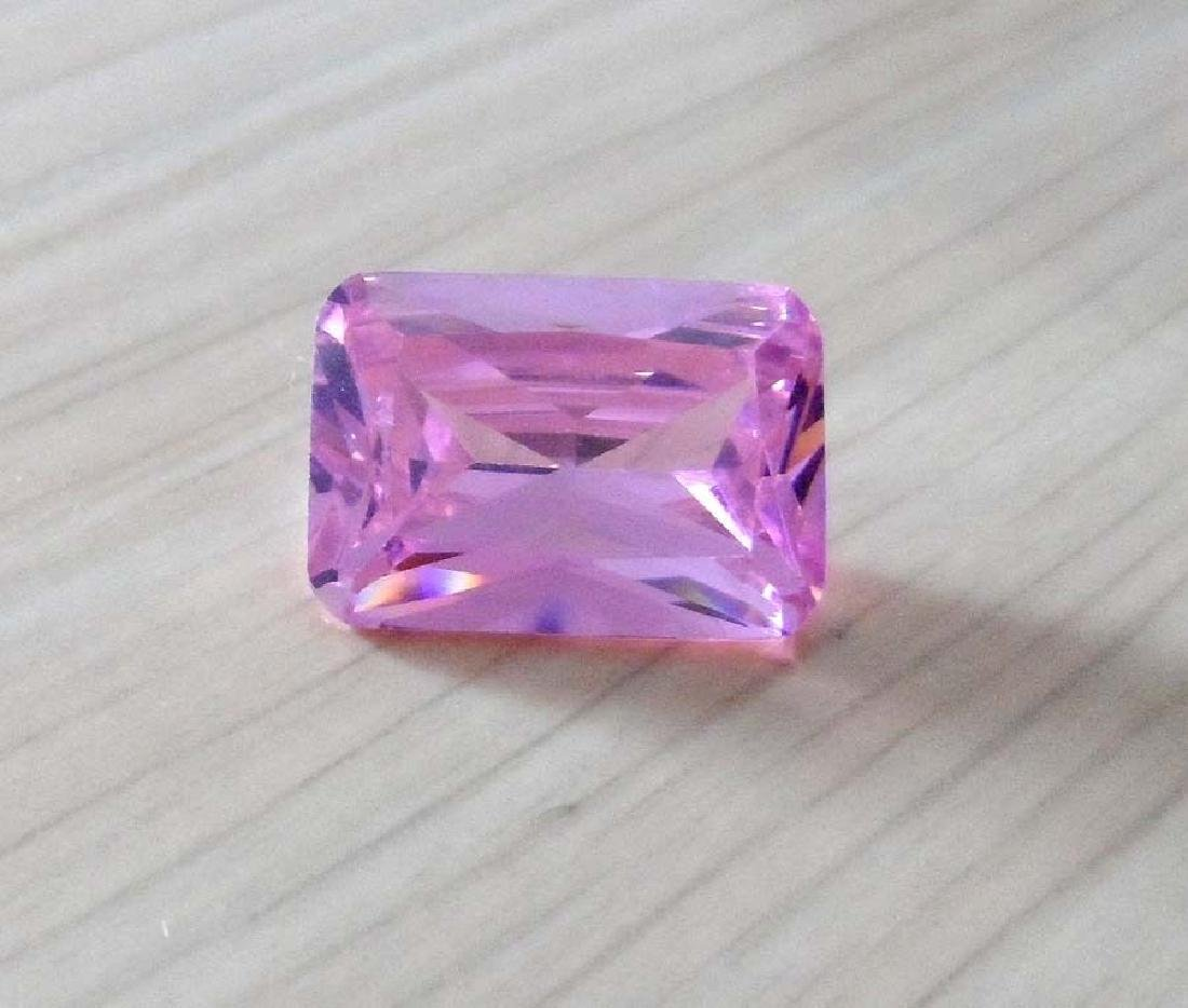 Unheated 9.57ct Pink Sapphire Emerald Faceted Cut - 4