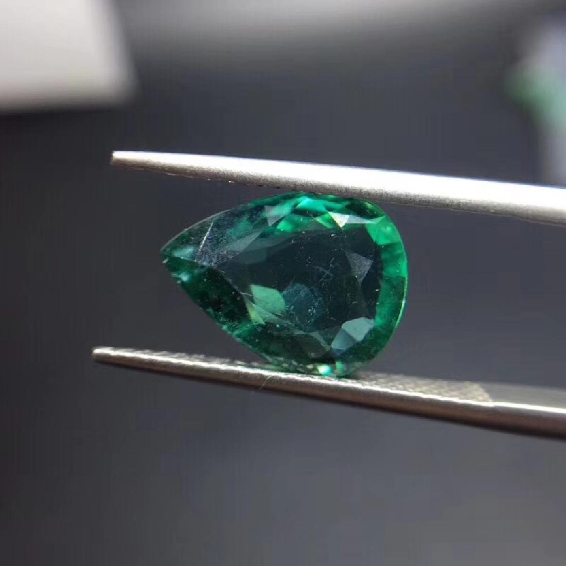 2.97 ct Emerald 9.3*12.3*4.2 mm Pear Cut