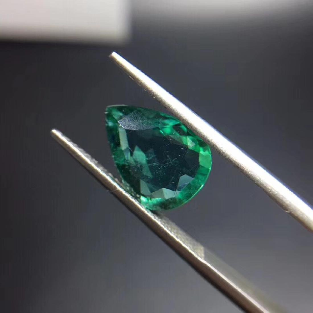 2.97 ct Emerald 9.3*12.3*4.2 mm Pear Cut - 4