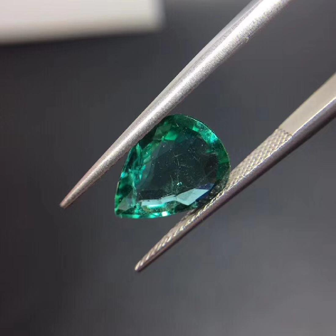 2.97 ct Emerald 9.3*12.3*4.2 mm Pear Cut - 5