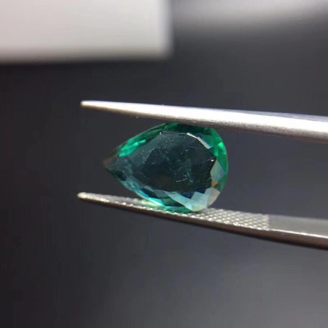 2.97 ct Emerald 9.3*12.3*4.2 mm Pear Cut - 6